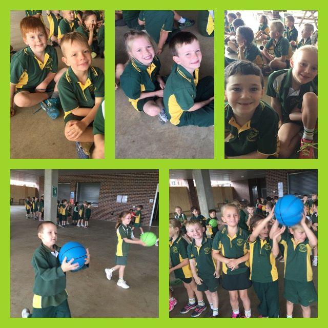 This term we have been practicing our ball skills.