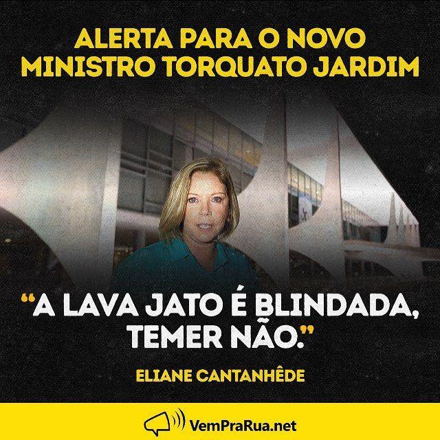 """2,312 curtidas, 36 comentários - Vem Pra Rua Brasil (@vemprarua_br) no Instagram: """"Fica o recado. #euapoioalavajato"""""""