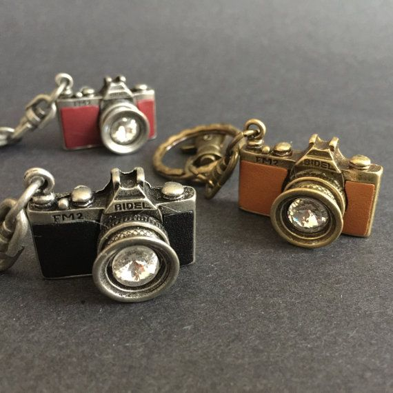 Vintage Camera Keychain. And it's a FM2! from ChloeStudio