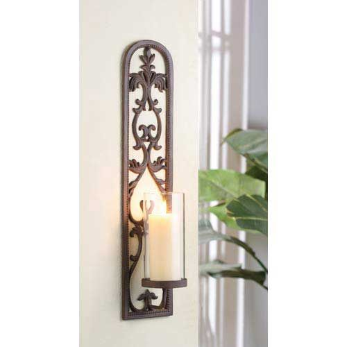 wall sconces for candles wall candle holder rusty tobacco finish with olive bronze candle
