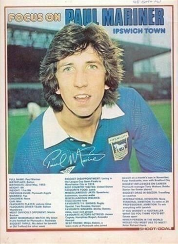 Focus On with Paul Mariner of Ipswich Town in 1976.