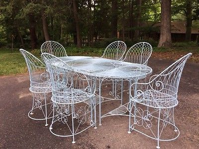 Outdoor Tables and Chairs, Custom Wirework Conservatory Furniture for up to 12