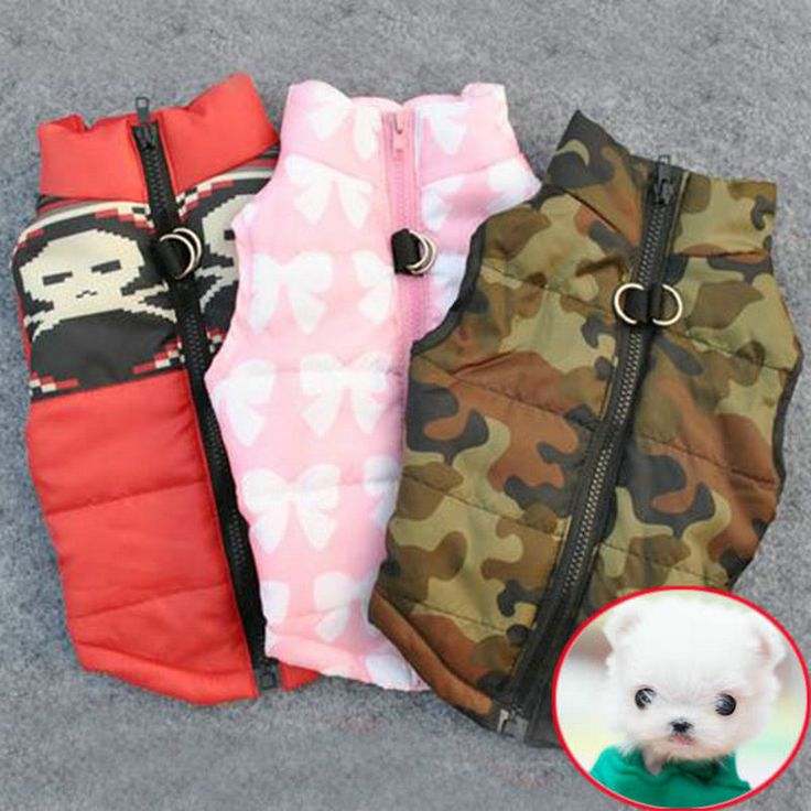 Winter Warm Pet Dog Clothes Vest Harness Puppy Coat Jacket Apparel 6 Color Large * Uznayte bol'she o bol'shom produkte po ssylke izobrazheniya.