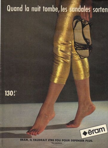 PUBLICITE-1970-ERAM-chaussures-quand-la-nuit-tombe-les-sandales-sortent-i