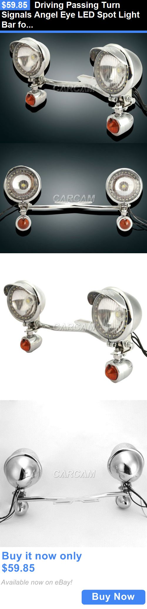 motorcycle parts: Driving Passing Turn Signals Angel Eye Led Spot Light Bar For Honda Cruisers BUY IT NOW ONLY: $59.85