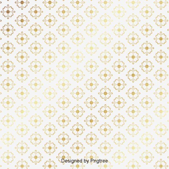 Golden Thai Pattern Background Pattern Golden Decorative Pattern