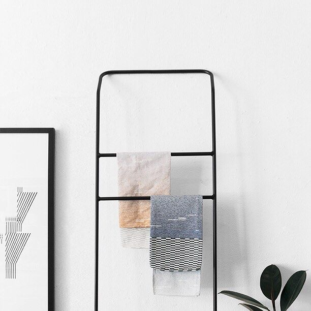 | The brand new leaning towel rack.  Not just for bathrooms, think of one in your kitchen, bedroom and entryway for a functional, minimalist feature at home. Available in black or white.  Come check it out in our pop up store open all weekend. Friday 11-6 Saturday 11-6 Sunday 11-5 374 Crown Street Surry Hills 👌🏻