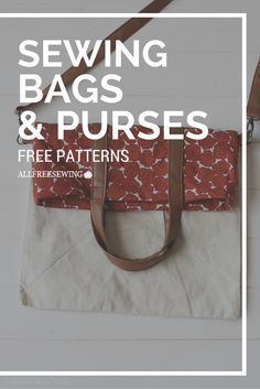Sew many patterns to sew! Sewing my own purse has been on my to-do list for a while.