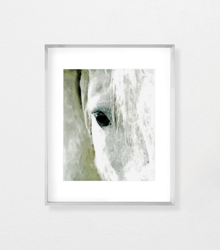 Horse print white wall art large wall art printable wall art digital download wall decor farm animal print farm animal wall art