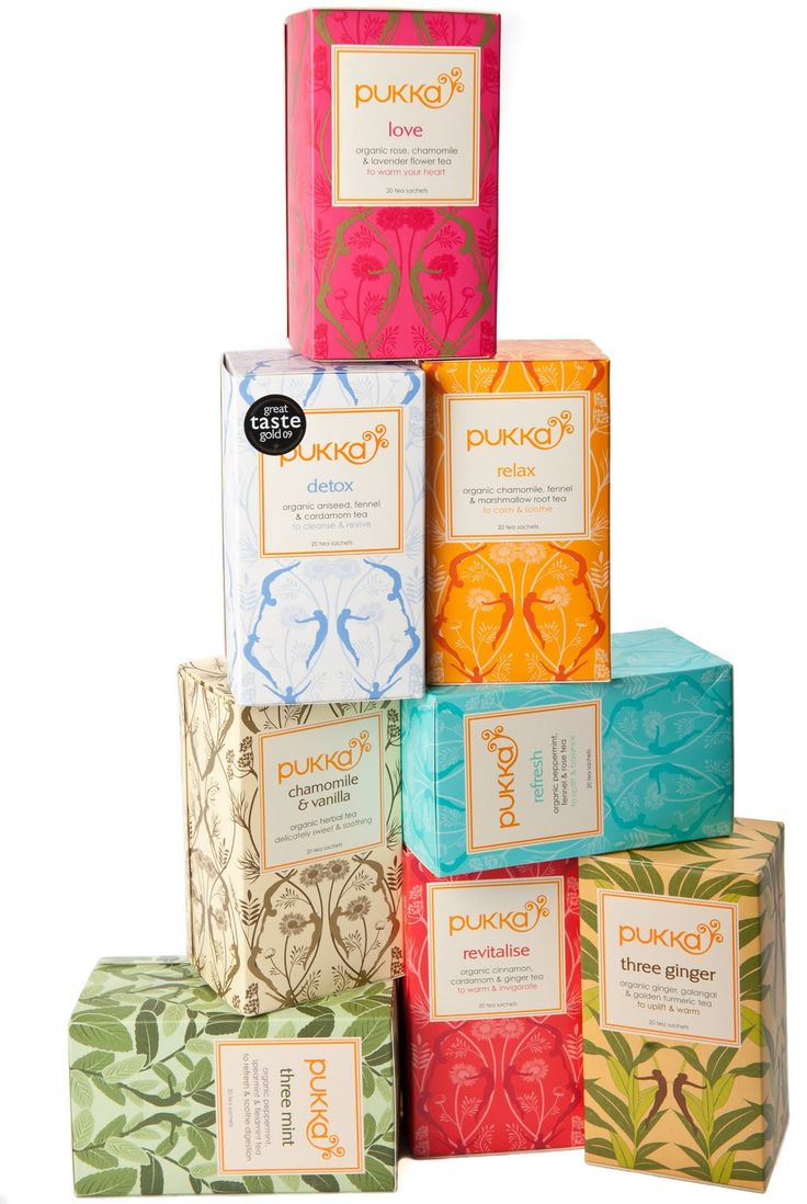 Pukka Tea.  Love the assorted backgrounds for this tea packaging and love the teas themselves #delicious.