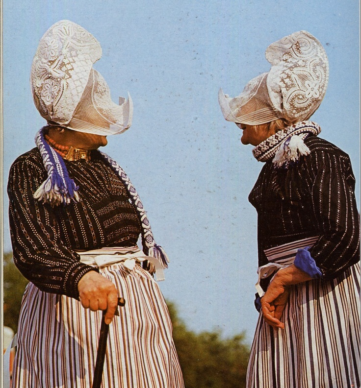 Another view of Dutch native dress for women.