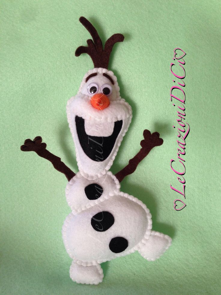 Hello everyone. I am Olaf and i love the warm hugs! #olaf #disney #frozen #felt LeCreazioniDiCi