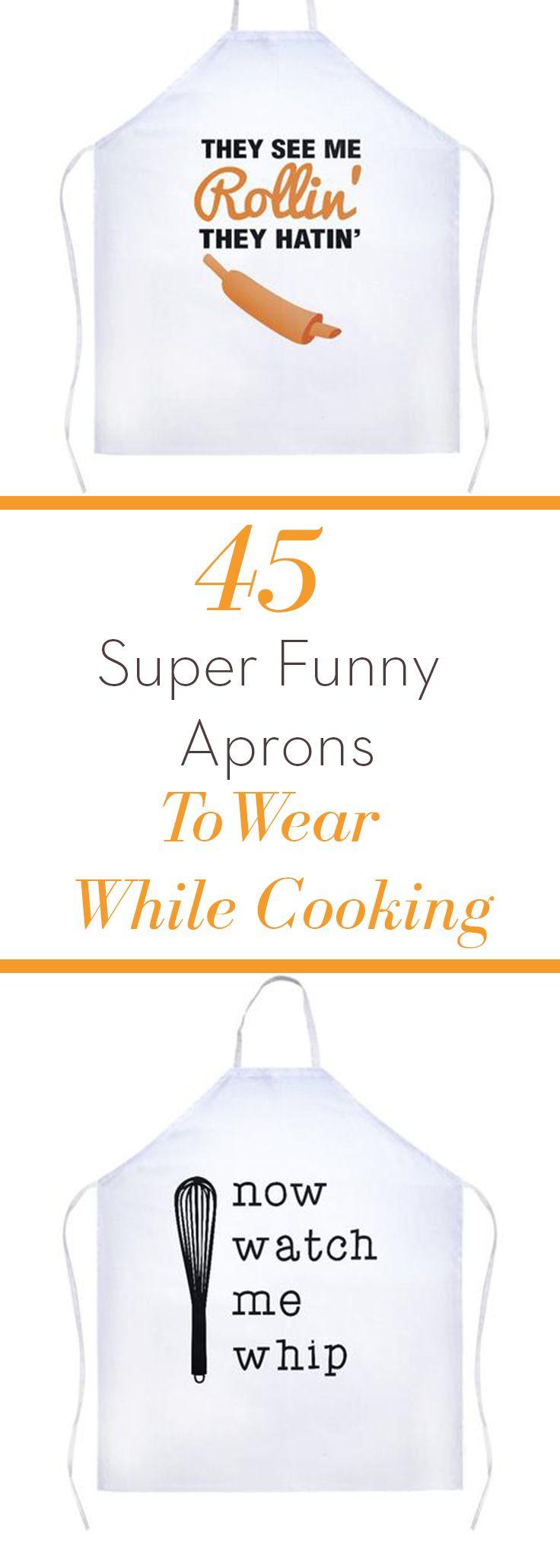 White apron big w - Funny Aprons