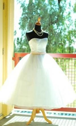 Other 50's Style Tulle Tea Length Dress 2 find it for sale on PreOwnedWeddingDresses.com