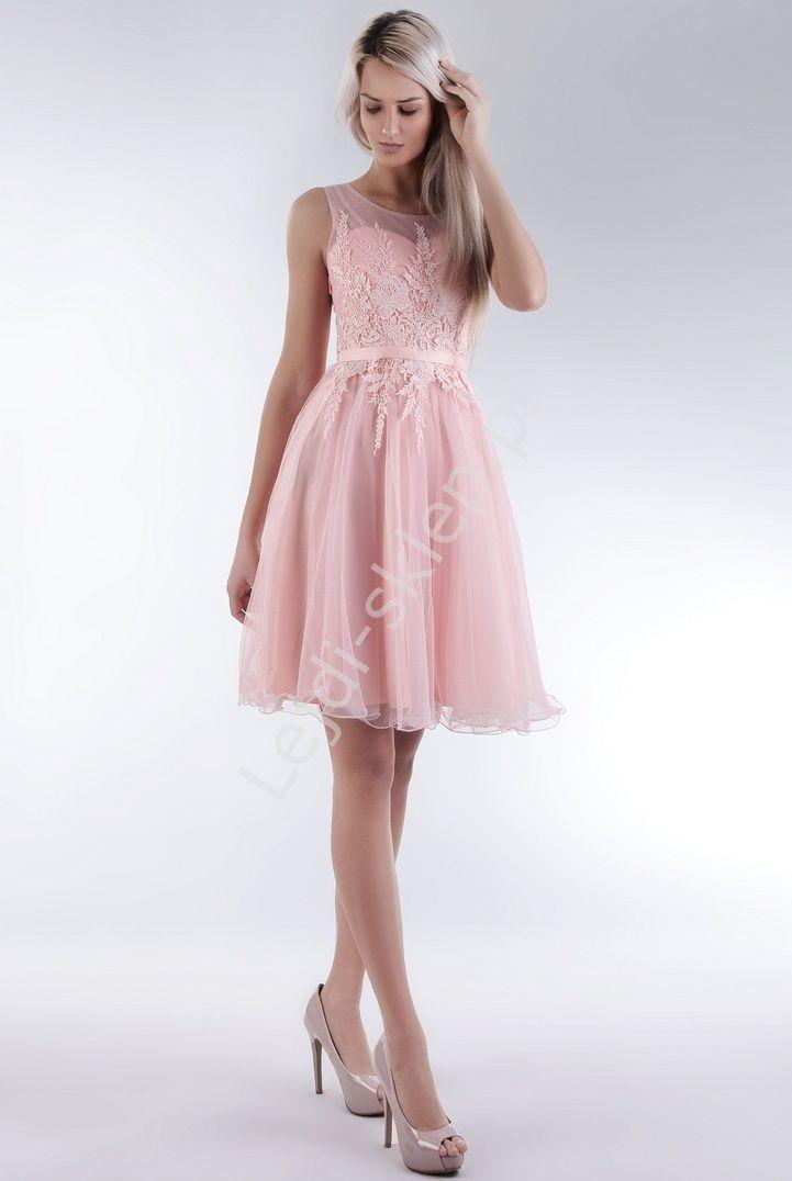 Cute pink dress for prom, wedding. Sukienka n studniówkę , sukienka na wesele. www.lejdi.pl