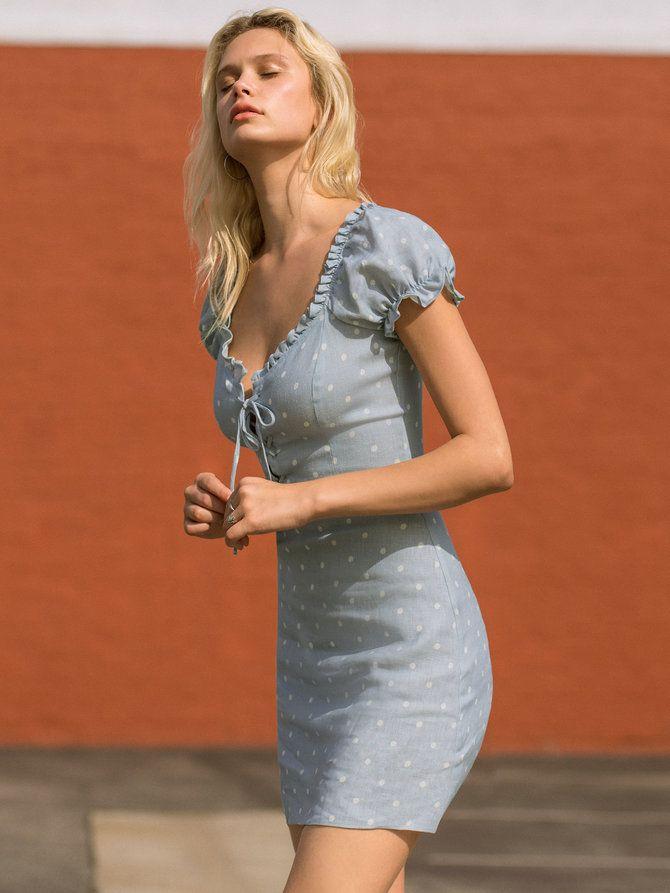 bde03311e2a Reformation Klara dress ethical   sustainable fashion