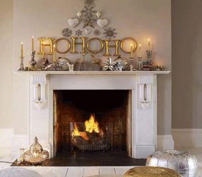 mantel-decorating-ideas-white-silver-golden-christmas