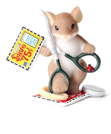 Another great find on #zulily! Coupon Clipper Mouse Figurine #zulilyfinds
