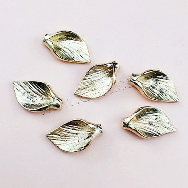Hair Clip Cabochon Finding, Zinc Alloy, Leaf, gold color plated