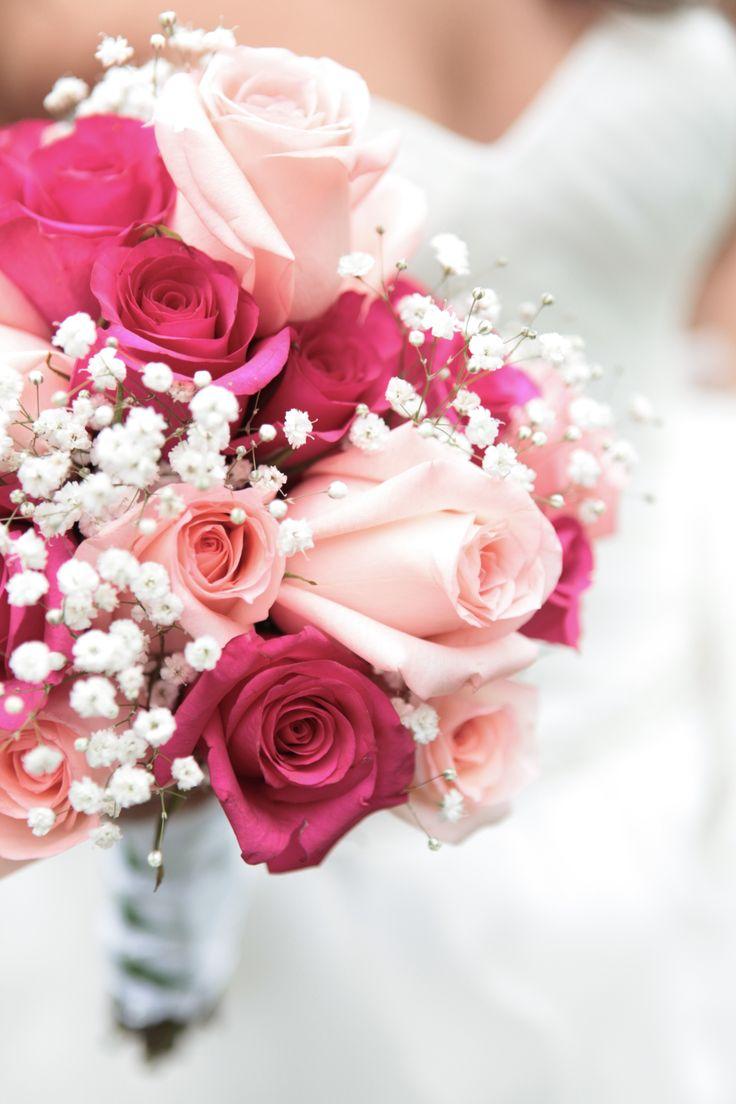 Rosas rojas y rosadas Ramo Novia