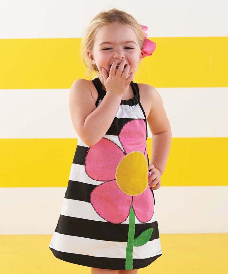 Mud Pie Black & White Flower Dress #zulilyfinds