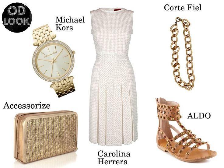 Blanco y dorado, perfecta combinación