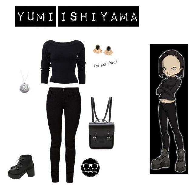 """Yumi Ishiyama - Code Lyoko"" by closplaying ❤ liked on Polyvore featuring Donna Karan, Barbara I Gongini, GUESS and The Cambridge Satchel Company"