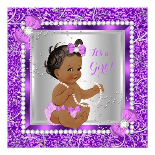 about purple pink baby shower invitations on pinterest baby showers