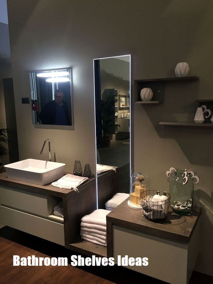 Amazing Bathroom Shelves Ideas Contemporary Bathroom Vanity