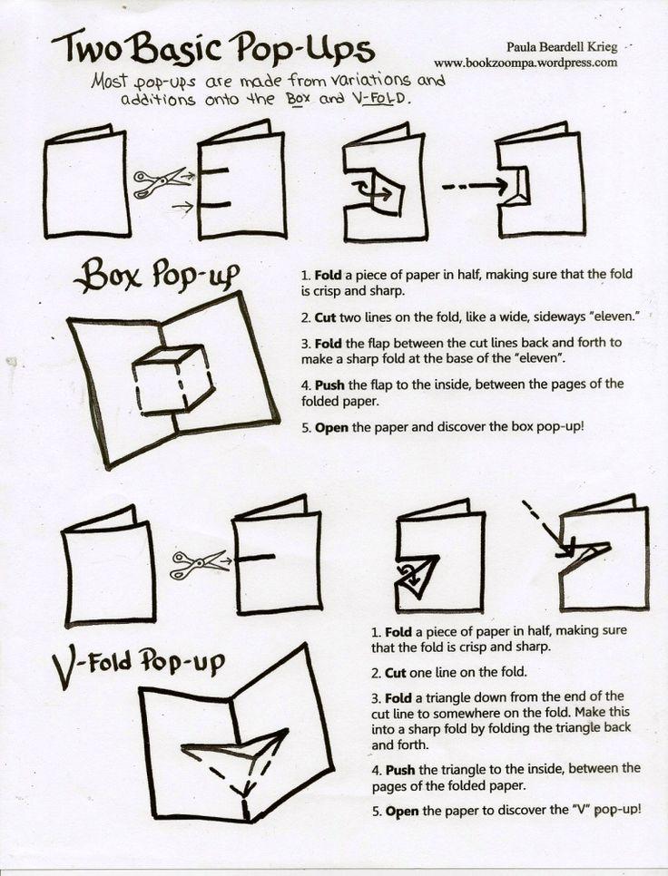"""Instrucciones básicas para hacer tarjetas """"pop-up"""""""