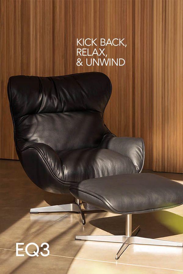 Tub Chair Eq3 Leather, Ergonomic Living Room Furniture Canada