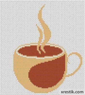 Kofe----55300 Схема для вышивки scheme for cross stitch