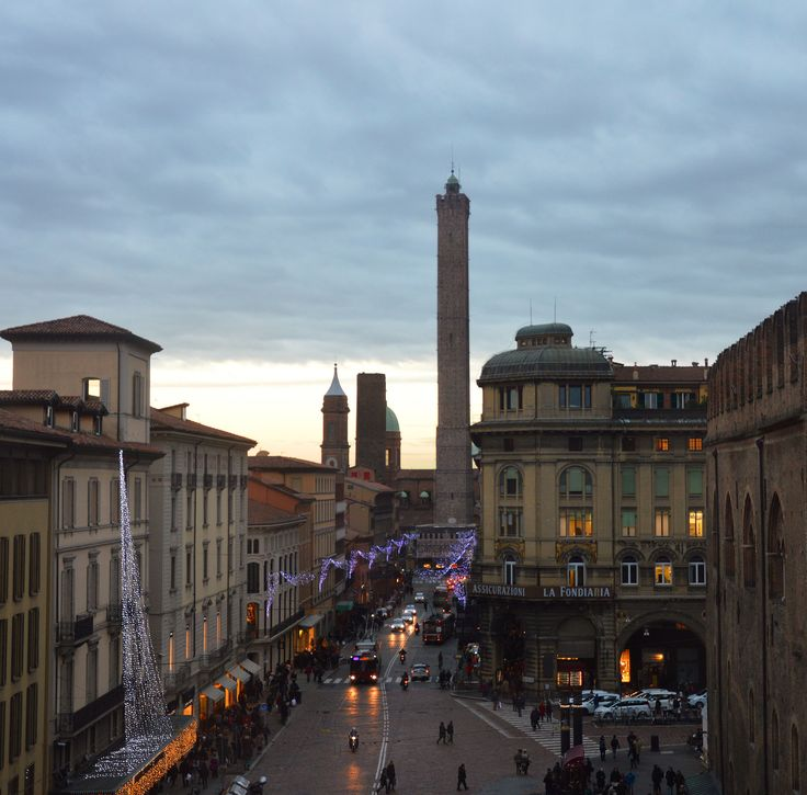 A winter evening in Bologna