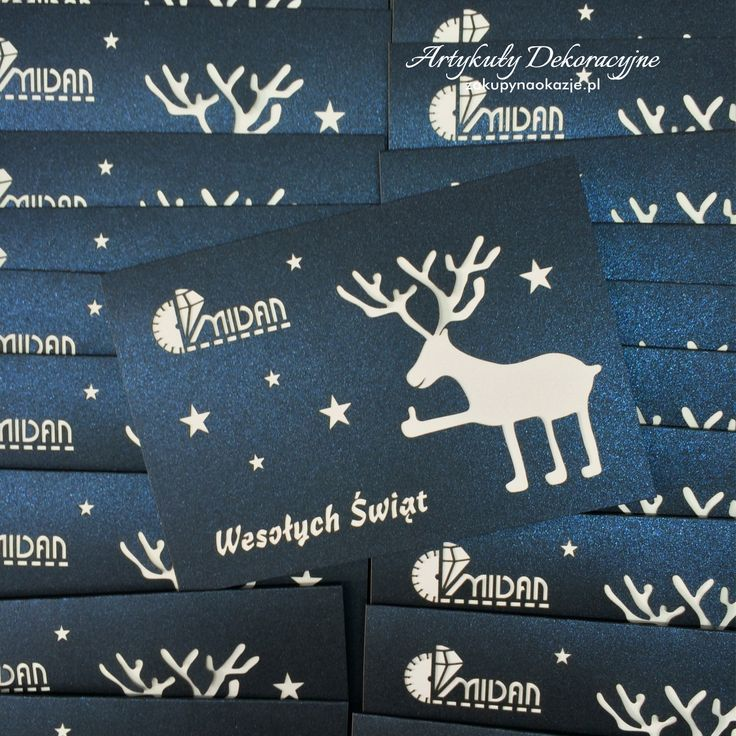 Realizacja kartek świątecznych z logo dla firm.