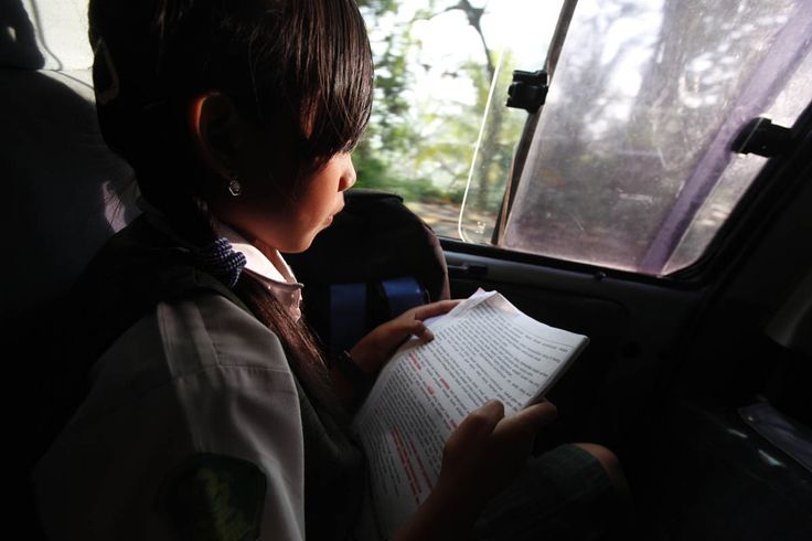 Reading on the way to school