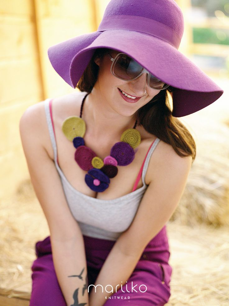 Purple queen with crocheted Mariiko necklace