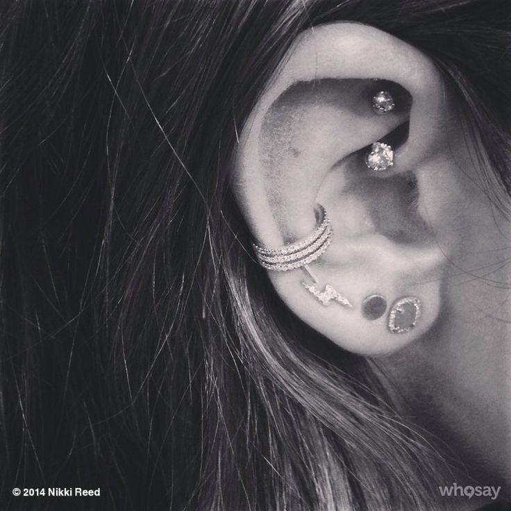 Ear piercings: conch & rook piercing || ANCIENT ADORNMENTS BODY PIERCING STUDIO: West Hollywood, Los Angeles - 8424 Santa Monica Boulevard, West Hollywood, CA 90069 || Phone #: (323) 515-5996