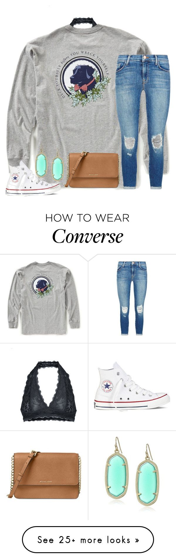 """Marry me by Thomas Rhett"" by hannahmae24 on Polyvore featuring Free People, Southern Proper, Michael Kors, Kendra Scott, Converse and J Brand"