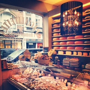 You can find lots of wonderful old fashioned food shops with a vast selection of cheese in #Maastricht