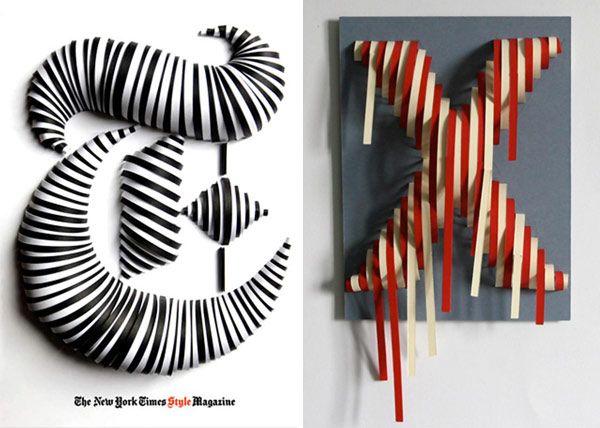 Tipografía y esculturas de papel de Jérôme Corgier. Atelier Pariri París | Experimenta diseño gráfico tridimensional | Experimenta