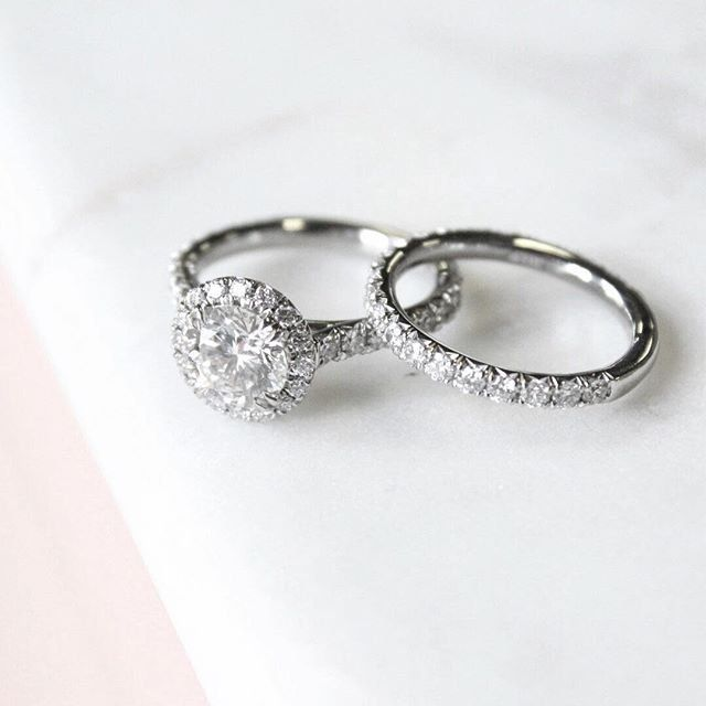 Match made | Luxe Sienna Halo Diamond Bridal Set