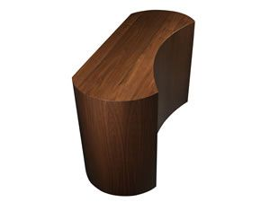 top side of cabinet tronix coast furniture design made out of walnut wood curved modern hidden tvlift