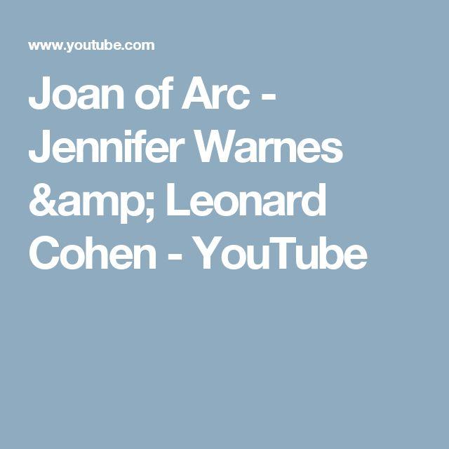 Joan of Arc - Jennifer Warnes & Leonard Cohen - YouTube