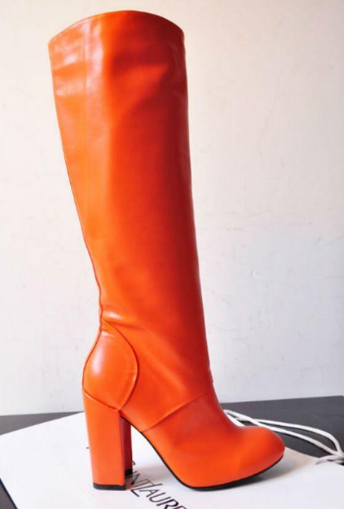 Київ Чоботи Сапоги Yves Saint Laurent оранжевая кожа  1 900,00 грн.