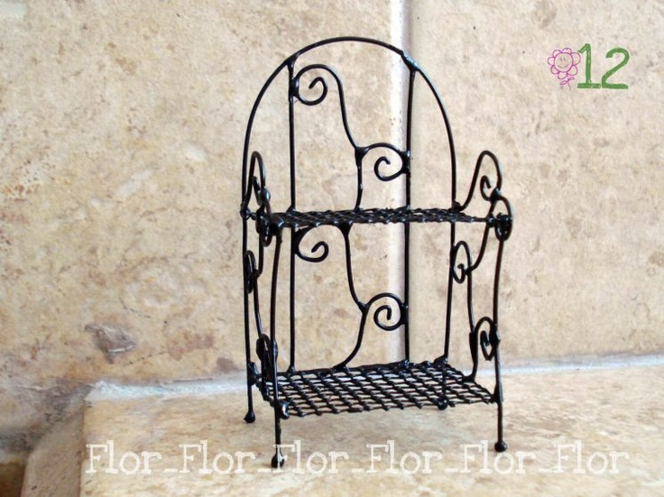 Faux wrought-iron metal shelves ~ Shows useful techniques for working with wire  Source: For & FF