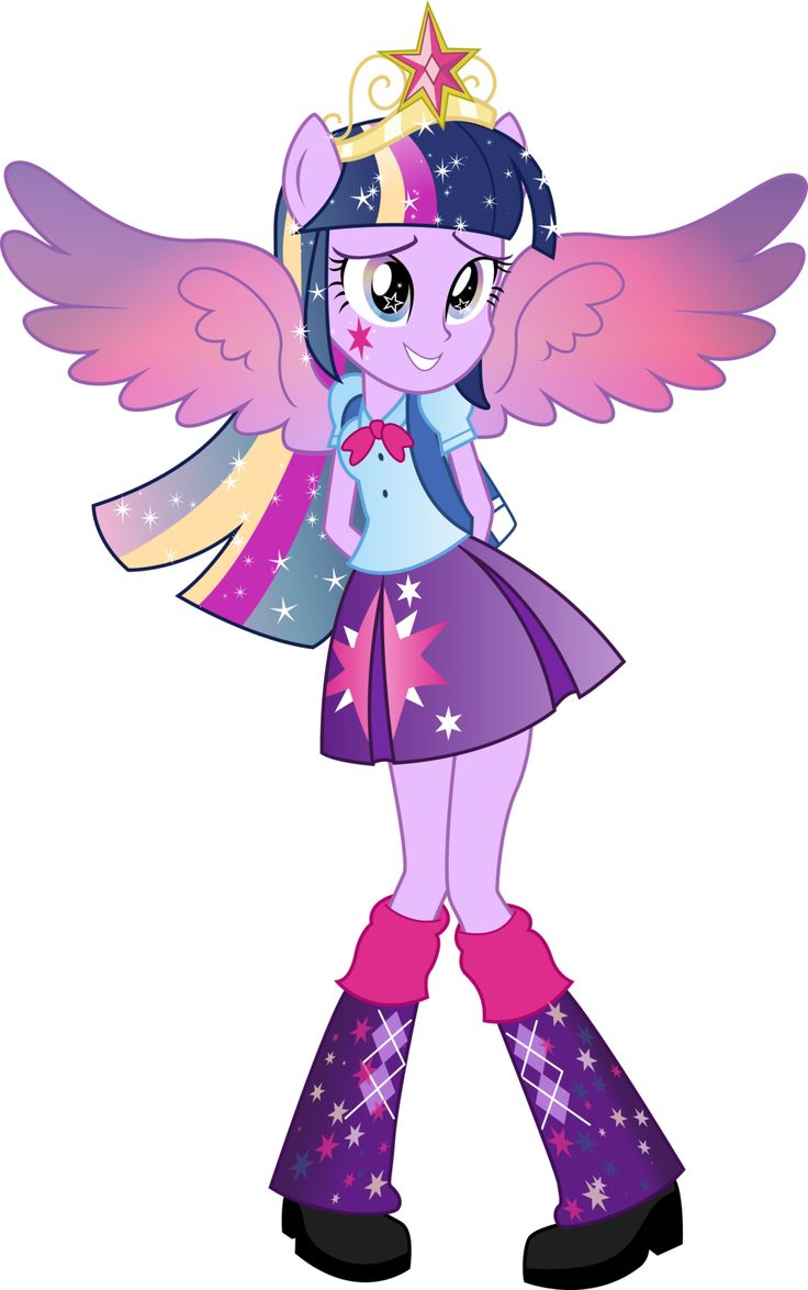 Awesome! Twilight Sparkle rainbowfied Equestria girls version!