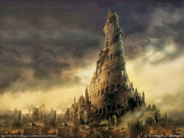 Old Towns In Ruin Fantasy Google Search Tower Of Babel