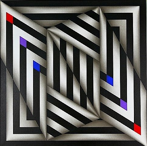 Saratoy III, 1980 by Omar Rayo. Op Art. abstract