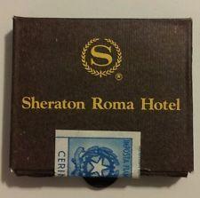SHERATON ROME HOTEL ITALY               Scatole di Fiammiferi] SHERATON ROMA HOTEL ITALIA Scatole di Fiammiferi