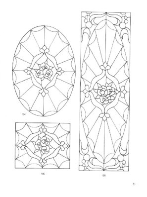 page39Dover's door stained glass patterns